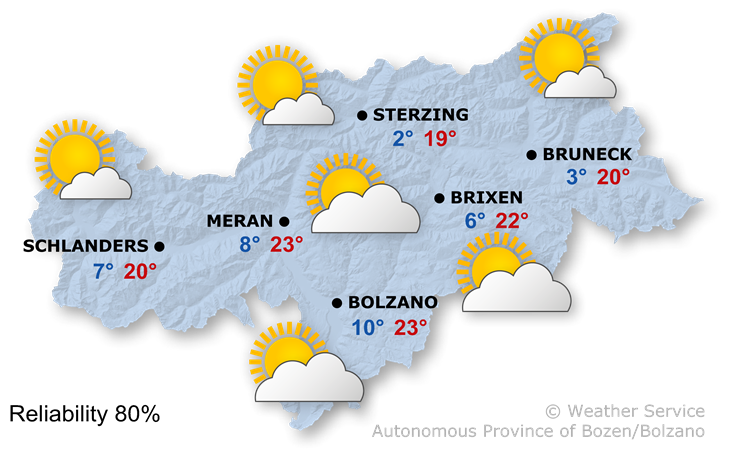 The weather today, 21.04.2019