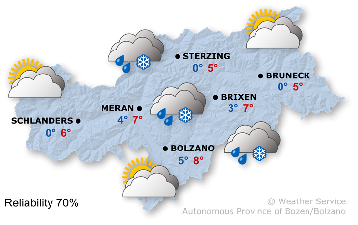 The weather today, 19.11.2019