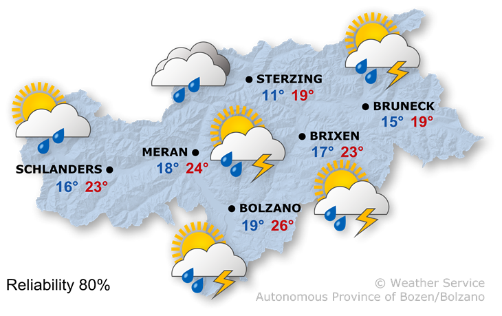 The weather today, 11.07.2020